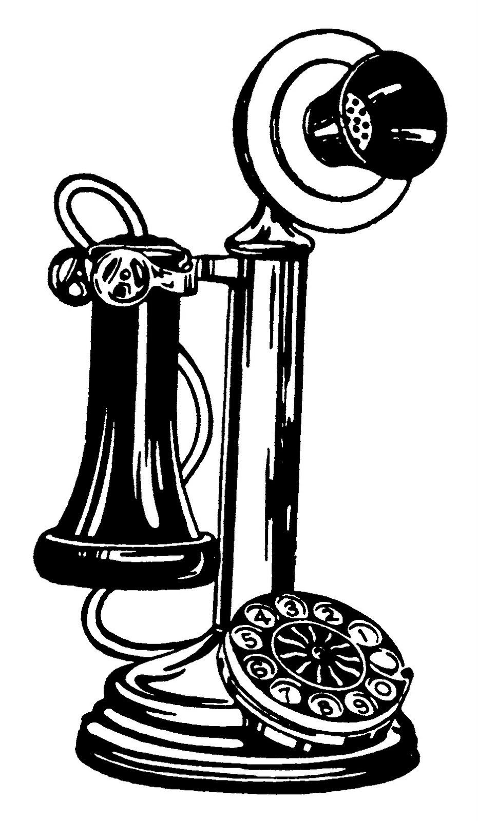 vintage telephone clipart - photo #3