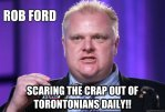 Fob Ford, scaring the crap